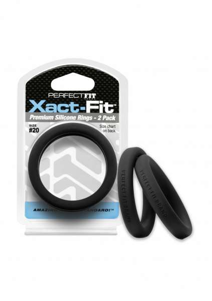 #20 Xact-Fit Cockring 2-Pack - Black
