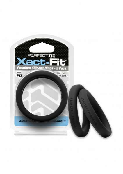 #22 Xact-Fit Cockring 2-Pack - Black