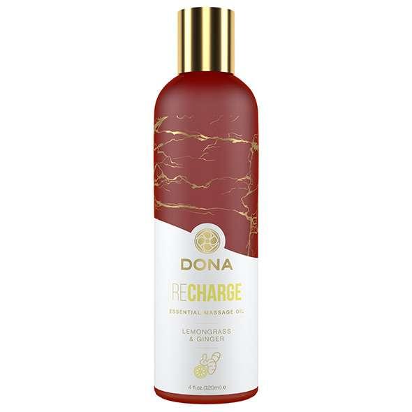 Dona - Essential Massage Oil Recharge Lemongrass & Ginger 120 ml