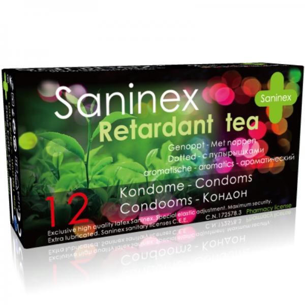 SANINEX CONDOMS RETARDANT TEA CONDOMS 12 UNITS