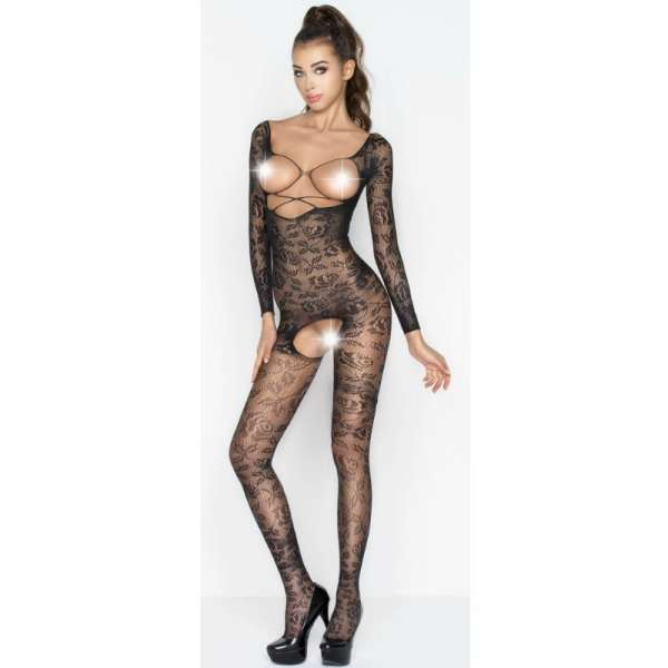 PASSION WOMAN BS031 BODYSTOCKING BLACK ONE SIZE
